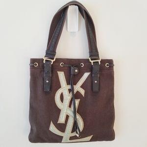 YVES SAINT LAURENT YSL logo shoulder bag tote
